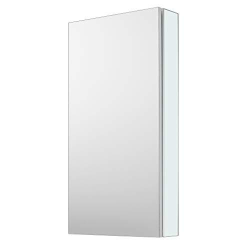 Bathroom Medicine Cabinet with Mirror Door, Wall Cabinet, Aluminum Hanging Cabinet, Medicine Cabinet Organizer, 18X27.5