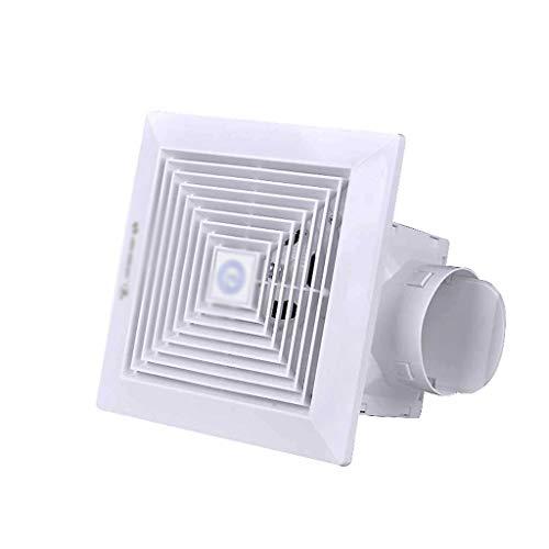 XJJZS Ventilación Ventilador de Techo Baño Garaje Extintor y de Montaje en Pared Extractor de Cocina/baño, Super Silent, Escape Fuerte