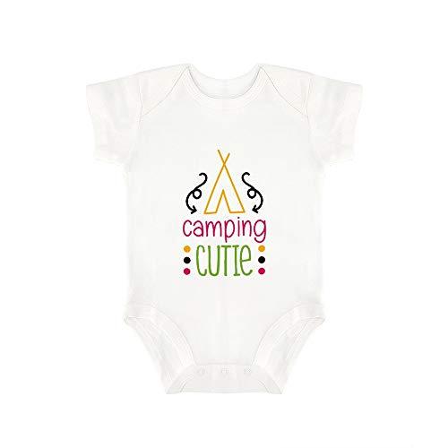 Promini Lindo Bebé Onesie Camping Cutie Bebé Mono Bebé Una Pieza Mameluco El Mejor Regalo Para Bebé