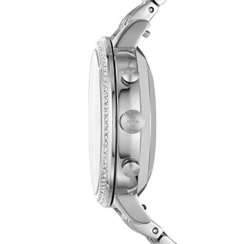 Fossil Women's Jacqueline Stainless Steel Hybrid Smartwatch, Color: Silver (Model: FTW5033) 3