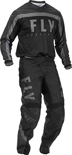 2020 Fly F-16 Adult MX Gear Combo (Black/Grey) (Black/Grey, Large 34' Waist)