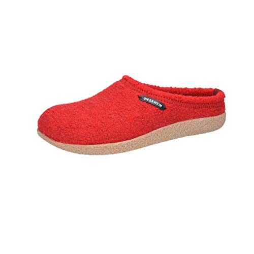 Giesswein Veitsch, Pantoffeln Unisex - Erwachsene, Rot, 39 EU