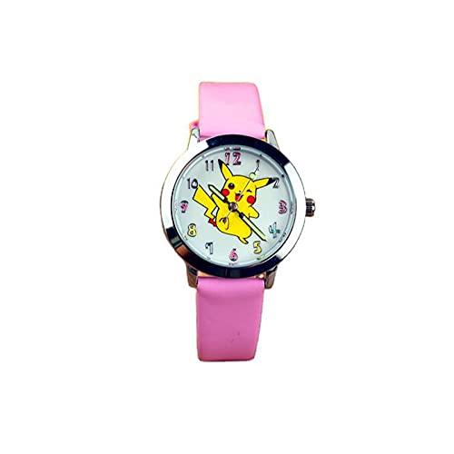 UYVBIAA Relojes para niños Pokemon Pikachu Relojes de pulsera para niños y niñas Correa de silicona de cuarzo Mini reloj monstruo de moda de dibujos animados de cuarzo regalos de cumpleaños