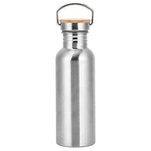 Matraz deportivo, botella de agua de acero inoxidable 304 para viajes, deportes al aire libre, acampada, senderismo, ciclismo(750ML)
