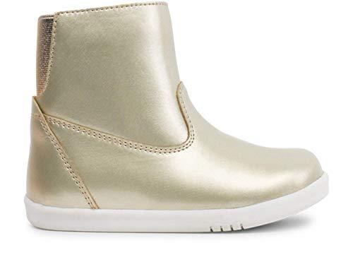Bobux I-Walk Paddington Winter Boots_Caminantes - Una Bota de Piel, Forro de Lana Merino, Membrana Interna Impermeable al Agua, Suela Flexible y Resistente, Cierre Cremallera (Gold, Numeric_23)