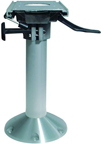 Aluminium Mainstay Heavy Duty Stuhlfuß (360º drehbar + Lock) mit Schlitten, Basis Ø229mm Bootsstuhlfuß 460mm hoch für Bootssitz Steuerstuhl