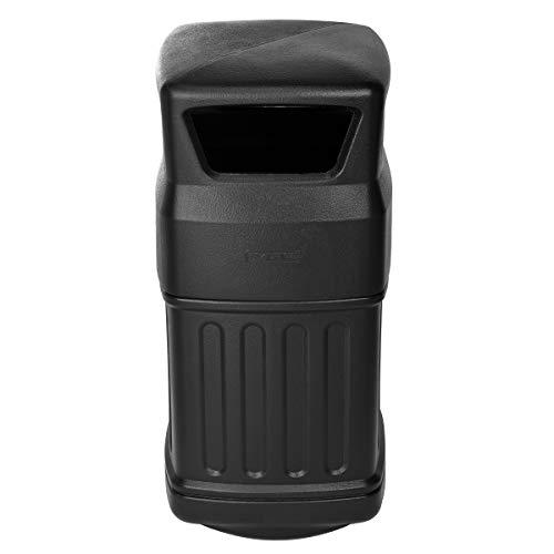 Alpine Industries Abfalleimer für den Innen- und Außenbereich, robust, für Zuhause, Küche und Badezimmer, Fassungsvermögen: 45 Liter, Schwarz