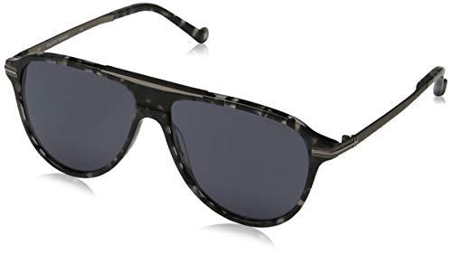 Hackett London Bespoke Gafas de sol, Negro (Black Tort/Grey), 58.0 para Hombre
