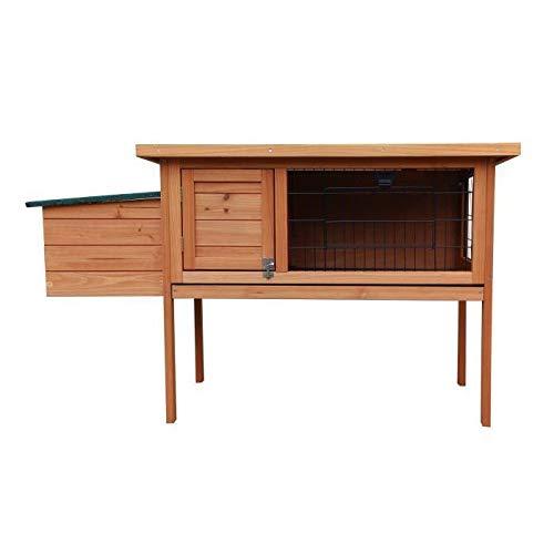 Clapier en bois Jules 120x45x70 cm - Pour lapin
