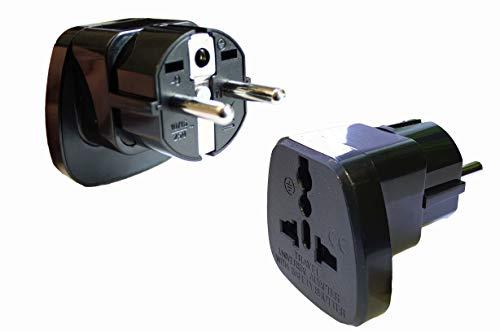 2x Adapter/Stecker China Asien Hong Kong Taiwan zum Anschluss ausländischer Geräte in Deutschland Typ X