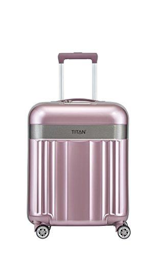 TITAN 4-Rad Handgepäck Koffer mit TSA Schloss, erfüllt IATA Bordgepäckmaß, Gepäck Serie SPOTLIGHT: Edler Bordgepäck Trolley in trendigen Farben, 831406-12, 55 cm, 37 Liter, wild rose (rosa)