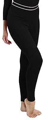 Rocky Women's Fleece Lined Thermal Bottoms Long Underwear Baselayer Pants Legging Black