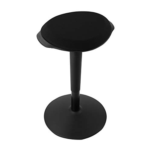 FLEXISPOT Wobble Stool Chair Sit-Stand Adjustable Height Ergonomic Active Learning Stool Balance Chair Padded Office Desk Chair (Black)