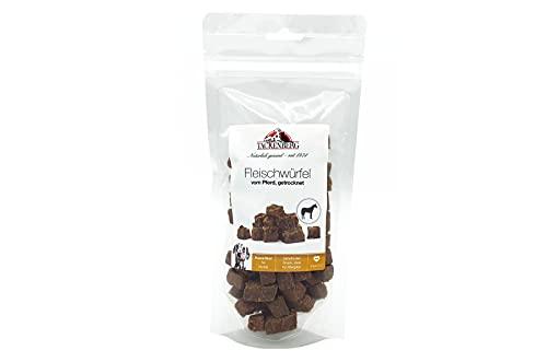 TACKENBERG Kauartikel für Hunde, Fleischwürfel vom Pferd, Leckerlis Hund, Kauspaß ohne Zusatzstoffe