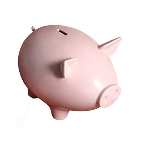 Huchas Decoración de cerámica Hucha Adornos, Alcancía for los niños, Regalos de Monedas Dinero Caja de Ahorros for Alquiler, S/M/L huchas Originales (Color : Pink-L)