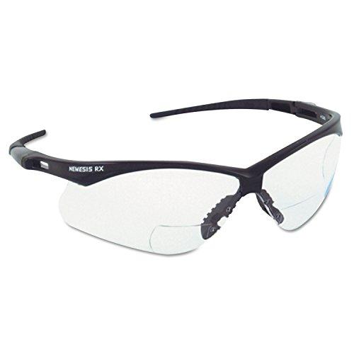 Jackson Safety 28630 V60 Nemesis RX Safety Eyewear, 3.0 Diopter Polycarp Anti-Scratch Lenses, Black