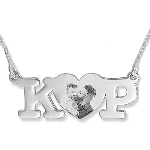 925 Silver Mother Heart Necklace Personalized Photo Locket Pendant Necklace for Her Unique Mother's Day Anniversary Birthday Jewelry for Women 16'(40cm)