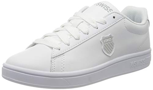 K-Swiss Damen Court Shield Sneaker, Weiß (White/White 101), 38 EU