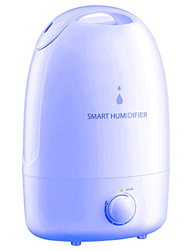 Homasy 3L Cool Mist Humidifier, Ultrasonic Bedroom Humidifiers for Babies, Powerful Baby Humidifier with 35h Working Time, Whisper-Quiet Operation, Auto Shut-Off, Large Humidifier for Home, Office