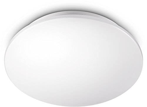 Philips My Living Plafón Moire 10 W y 850 lúmenes, luz blanca neutra (4000 K), color blanco