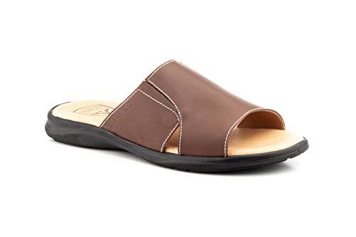 Gel-Pflanzen-Sandalen aus Leder, Braun - braun - Größe: 39 2/3 EU