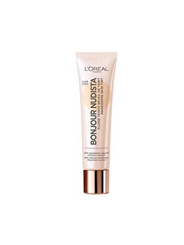 L Oréal Paris BB Cream, Bonjour Nudista, Finish Nudo Radioso, Pelle Idratata, non Appesantita, 01 Light