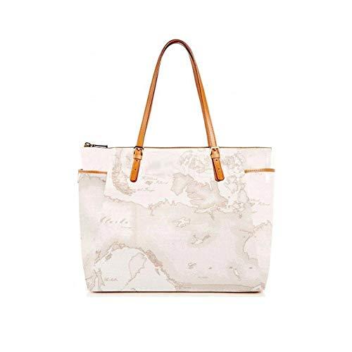 ALVIERO MARTINI Borsa Donna Shopping con Fibbie 1^Classe Geo White CE00161880900-Bianco