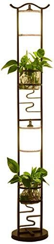 Raelf Wohnzimmerlampe Studie Schmiedeeisen Jahrgang Stehlampe Moderne Mini-Stehlampe, Pflanze Tischlampe E27 Stehlampe Wohnzimmer Studie Lampe vertikale Lampe Vase vertikale Stehlampe