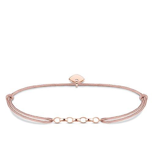 Thomas Sabo Damen-Armband Little Secret 925 Sterling Silber rosé vergoldet Beige LS049-597-19-L20v