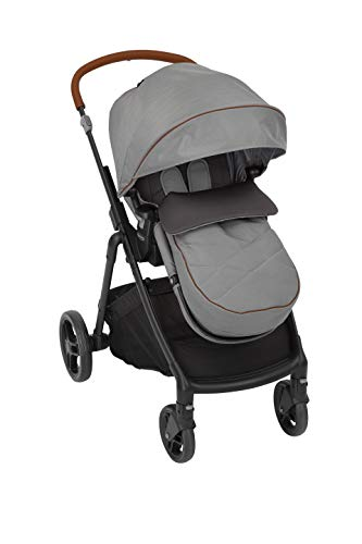 Graco Near2Me Kinderwagen (Geburt bis 4 Jahre, ca. 0-22 kg) mit Slide2Me Höhenverstellung, Luxus-Fußsack & Regenschutz, Steeple Grey