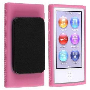 2点セット Apple iPod nano 7 デザイン カバー ケース TPU Clip Design Case (ベルトクリップ付き) アイポッドナノ 2012年 第7世代 iPod nano 7th 対応 + 液晶保護フィルム1枚【Pink(ピンク)】の詳細を見る