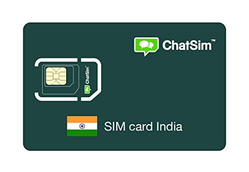 Internationale SIM-Karte für Reisen nach INDIEN und rund um den Globus - ChatSim - Empfang in 165 Ländern, Roaming weltweit - Mehrfachanbieternetz GSM/2G/3G/4G, keine Fixkosten,
