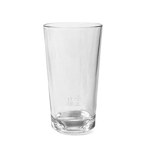 6 verres Absolut Vodka de qualité supérieure - Logo sur le fond.