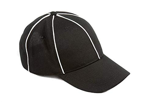 Murray Sporting Goods Referee Hat | Black with White Stripes Officials Referee Hat