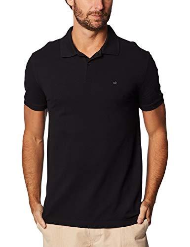Camisa Polo Slim Básica,Calvin Klein,Masculino,Azul Claro,M