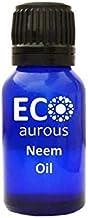 Neem Oil 100% Natural, Organic, Vegan & Cruelty Free Neem Essential Oil   Pure Neem Oil   Cold Pressed Neem Oil by Eco Aur...