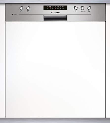 Lave vaisselle encastrable Brandt VH1704X - Lave vaisselle integrable 60 cm - Classe A++ / 44 decibels - 14 couverts - Intégrable bandeau : Inox