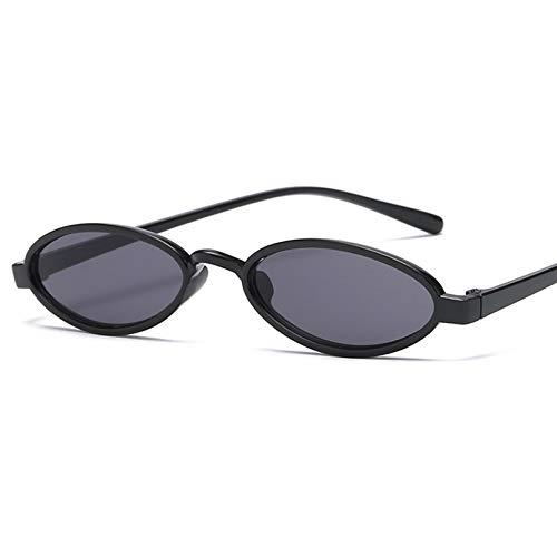 SHEANAON Gafas de Sol Steampunk ovaladas pequeñas Moda Dama Mujeres Hombres Gafas de Sol Redondas para Mujer Hombre