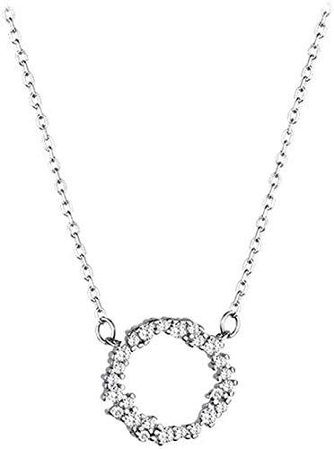 LKLFC Collar Mujer Collar Hombre Colgante Collar Limpieza Hueso Cadena Collar Niñas Niños Regalo