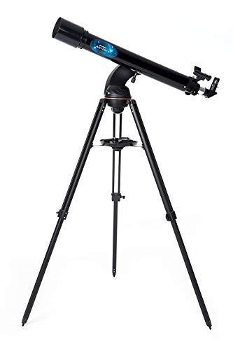 Celestron Astro Fi 90 Wi-Fi Refractor Wireless Refracting Telescope, Black (22201)