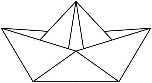 Artemio Stempel Origami Boot, Holz, 66x 37mm