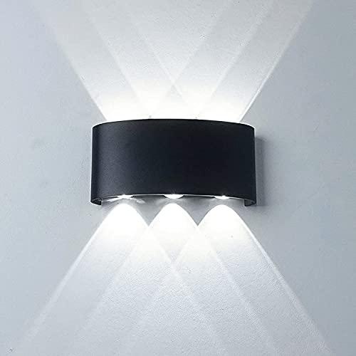 Universo Applique led da esterno ip65 lampada a parete moderno16w doppia luce (Nero - Luce...