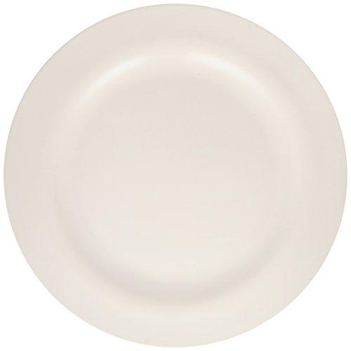 Zak Designs 1313-0849 Assiette, mélamine, Blanc, 24 x 24 x 1,5 cm