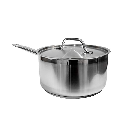 Update International SSP2 Stainless Steel Sauce Pan with Cover 2Quart silver