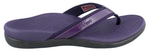 Vionic Tide II - Leather Orthotic Sandals - Orthaheel Purple - 11