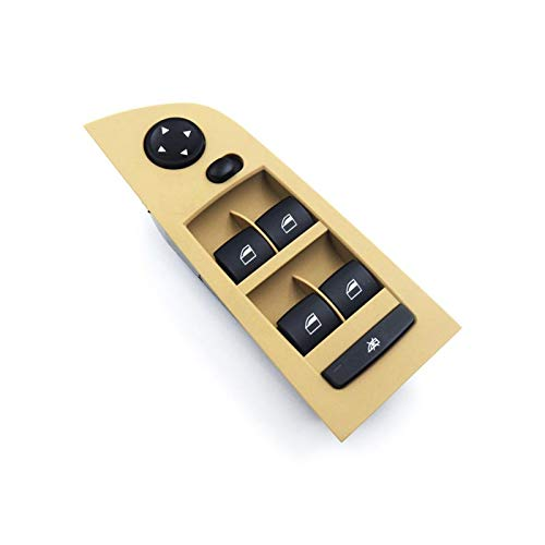 WANGYOU Interruptor de compatibilidad para Autos Elevador Ventana de Control para BMW E90 E91 Accesorios 2004-2013 Serie 3 61319217331 61319217332 61319217334 61319217329 Lasting (Color : Beige)