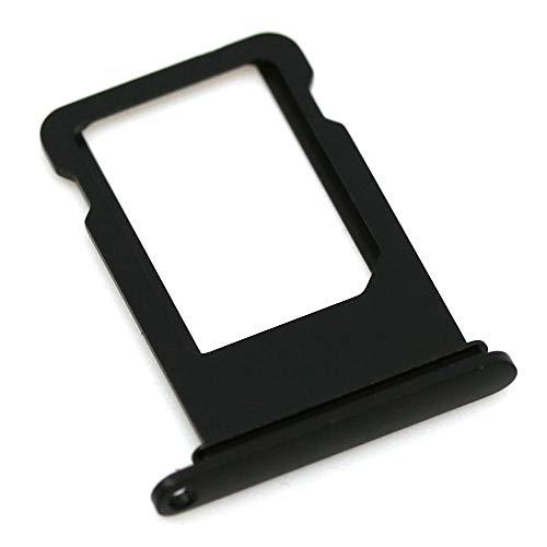 SIM-Kartenhalter passend für Apple iPhone 7 Plus Schwarz Matt Halter Tray Schlitten mit mungoo Displayputztuch