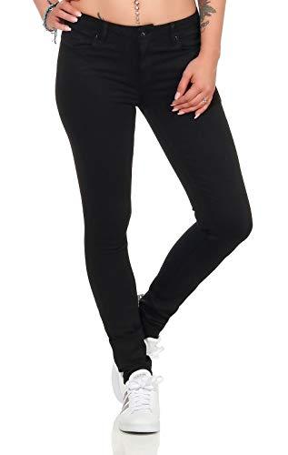 ONLY Damen Jeans Hose Carmen Skinny schmales Bein Reg 15159404 Black Denim 29/30