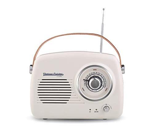 Vintage Cuisine Radio con Bluetooth 4.1 (Cream)