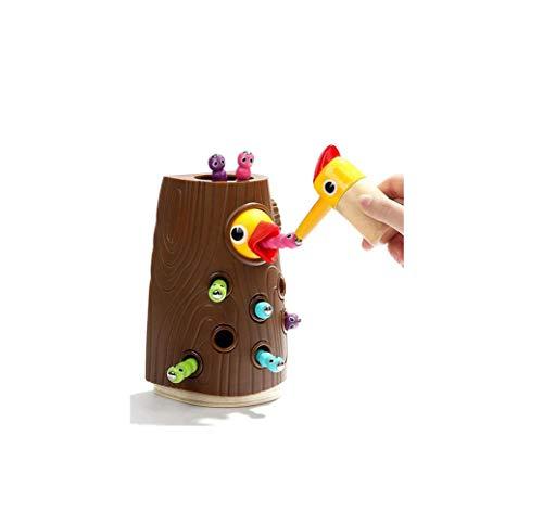 JUYAFEI Pajaro Carpintero Juguete,Hungry Woodpecker Toy, Modelo De Simulación,Madera Ecológica,Sin Formaldehído,con Imanes,Apto para Juguetes Educativos Preescolares (2 Set)